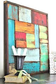 wood painting ideas salvaged wood art