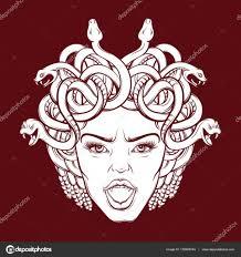 фото медуза горгона векторная иллюстрация разгневанных горгона