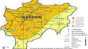 Kayseri Deprem Fay hattı haritası güncel 2021!