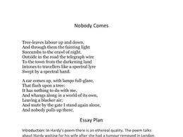english igcse full collection of hardy poem s essay plans by  english igcse thomas hardy poem nobody comes essay plan