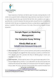 sample report on marketing management by instant essay writing impactful brand proposition 15