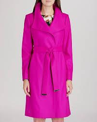 hot pink coats ted baker coat nevia belted wrap