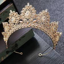 2019 <b>Baroque Bride Crown Headwear</b> Fashion Golden Crown ...