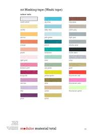 A Colour Chart With All The Colours And Modulor