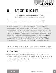 The 12 Steps of Recovery - savn sobriety workbook