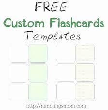 Free Flash Card Template New Free Templates For Business Cards