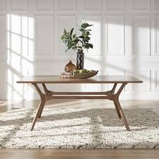 nadine midcentury walnut finish rectangular dining table by inspire q modern modern rectangular dining table n79 modern