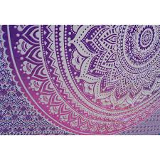 indian mandala pink purple ombre wall tapestry twin small size bedding hippie room decor