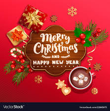 Merry Christmas And New Year Wishing Card