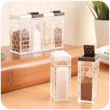 1pcs Set Clear Bottle Spice Jar Kitchen Sugar Powder Salt Pepper