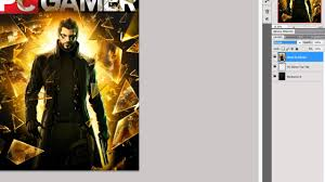 Photoshop Cs5 How To Make A Pc Gamer Like Magazine Cover Youtube