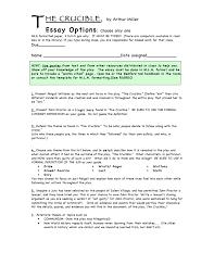 Crucible Essay Ques Liberty English 11