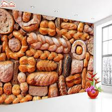 Shinehome Baked Bakery Photo Wall 3d Wallpaper For Walls 3 D Living
