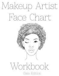 bol makeup artist face chart workbook gaia edtion sarie smith 9781523878475 boeken