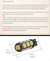 Super Warm White T10 5050 13smd Car Rv Camper Backup Led Light Bulbs 194 921 912 Automotive Led Driving Lights Best Daytime Running Lights From