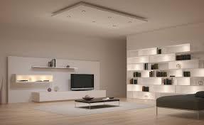 under furniture lighting interior black sofa bed front square table on gray carpet under