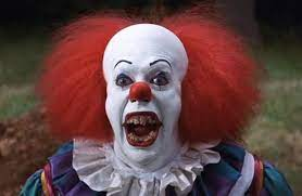 Pennywise, the dancing clown of Stephen King's 1986 horror novel It