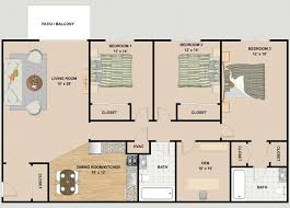 3 Bedroom Floor Plans Awesome Decorating
