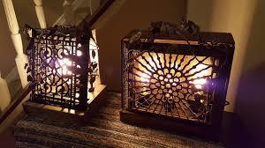 repurposed lighting. Glow Of History - Repurposed Antique Cast Iron Heating Grate, Vintage Lighting, Handmade Metalwork Lighting