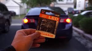 Sylvania Zevo Led Review Brake Light Bulbs Led Vs Regular Incandescent Acura Tsx
