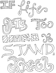 Inspirational Quotes Coloring Pages Fun And Pretty Things To Go