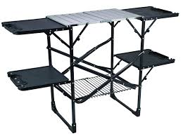 Amazon.com : GCI Outdoor Slim-Fold Cook Station Portable Folding Kitchen  Table for Grilling, Camping, Picnics, and Tailgating : Sports & Outdoors