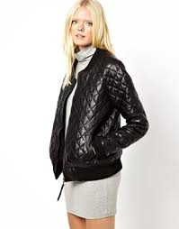 Just Female | Just Female Quilted Leather Bomber Jacket at ASOS ... & Just Female Quilted Leather Bomber Jacket Adamdwight.com