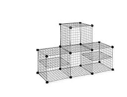 grid wire modular shelving storage cubes home room organizer rack shelf system
