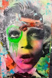 Brooklyn Street Artist DAIN combines old Hollywood glam and a gritty  graffiti style to produces works that are both evocative and beautiful in  their ...