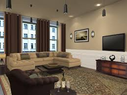 Living Room Color Schemes With Brown Furniture Living Room Awesome Brown Color Scheme Nice Fabric Sectional Sofa