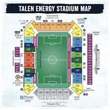 Seattle Sounders Seating Chart With Rows Talen Energy Stadium Seating Chart Philadelphia Union