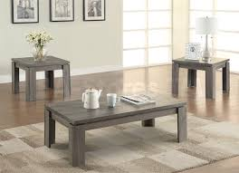 weathered grey 3 piece coffee table set