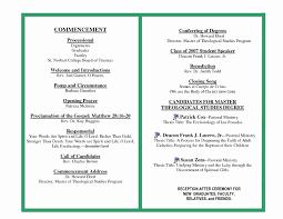 Ceremony Template Graduation Ceremony Program Template Stanley Tretick