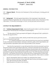 It Statement Of Work 17 Free Statement Of Work Templates Ms Office Documents