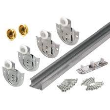galvanized steel bypass closet door track kit