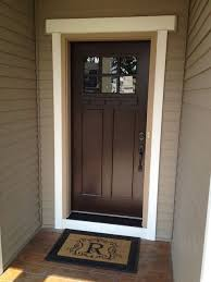 craftsman fibergl front door want to stain our front door just like this with the cream trim