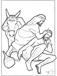 De Barmhartige Samaritaan 5 Bijbel Kleurplaten Nieuwe Testament