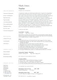 Teacher Resume Examples Teaching Template Job Description Teachers