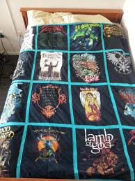 Metal quilt my mom made out of old band t shirts | Rebrn.com & Metal quilt my mom made out of old band t shirts Adamdwight.com