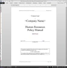 Hr Manual Template Human Resources Policy Manual ABR24MPM 1