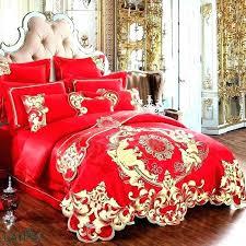 green satin duvet cover set dragon and phoenix wedding bedding print modern suits jacquard ball z
