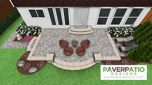 s18 square raised patio with ground