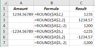 Excel Round Formulas Different Rounding Effects In Excel Microsoft Excel 2016