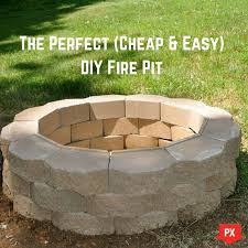 your weekend project the perfect easy diy fire pit fire how to build a