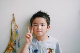 夏休みの子どもカット今年の夏も来てくれました 愛知県豊橋市le