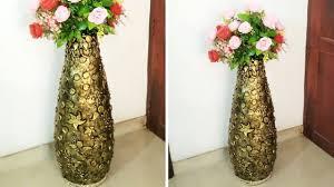 Big Flower Vase Design Big Size Flower Vase From Pvc Pipe And Newspaper Diy Flower Vase Make At Home