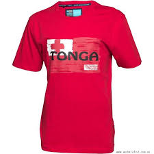 stylish t shirt red black white red rugby world cup tonga flag mens t shirts mens