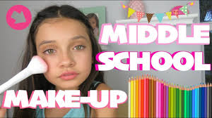 back to middle 6th 7th grade make up look routine