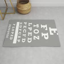 Carpet Quality Chart Optometrist Eye Chart Rug By Kippygirl