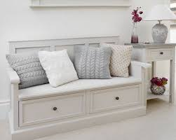 Entryway Storage Bench Be Equipped White  Intended For Wooden Sofa Bench With Storage R42